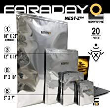 Faraday Cage Military Grade Uber Thick XXXL EMP Solar Flare Bags 20pc 2-Metal Layer, Fully-SPECCED, Heavy Duty Electro-Shielding Kit XXX-Large Laptop Notebook iPad Survivalists Preppers