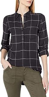 Daily Ritual Amazon Brand Women's Soft Rayon Slub Twill Long-Sleeve Popover Tunic