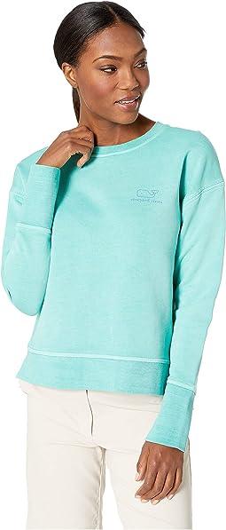 Long Sleeve Vintage Whale Crew Neck Sweatshirt