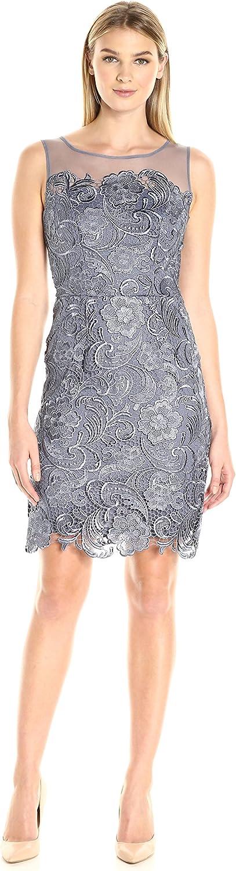 Decode 1.8 Women's Sleeveless Lace Illusion Dress, Charcoal, 6
