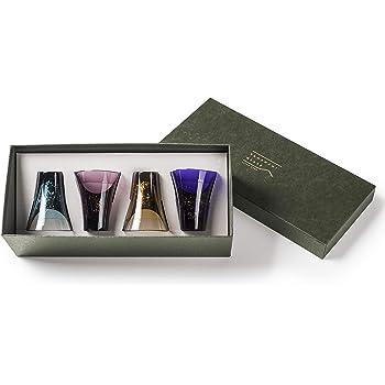 プラキラ(Plakira) YAMANAMIグラス 紙箱入り 4個セット [生涯割れない保証付き] トライタン コップ 食洗機対応
