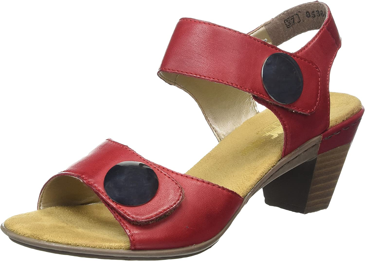 Rieker 67369-33 red (Red) Womens Sandals