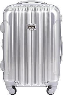 "kensie 20"" ""Alma"" Carry-On TSA-Lock Spinner Luggage, Silver"