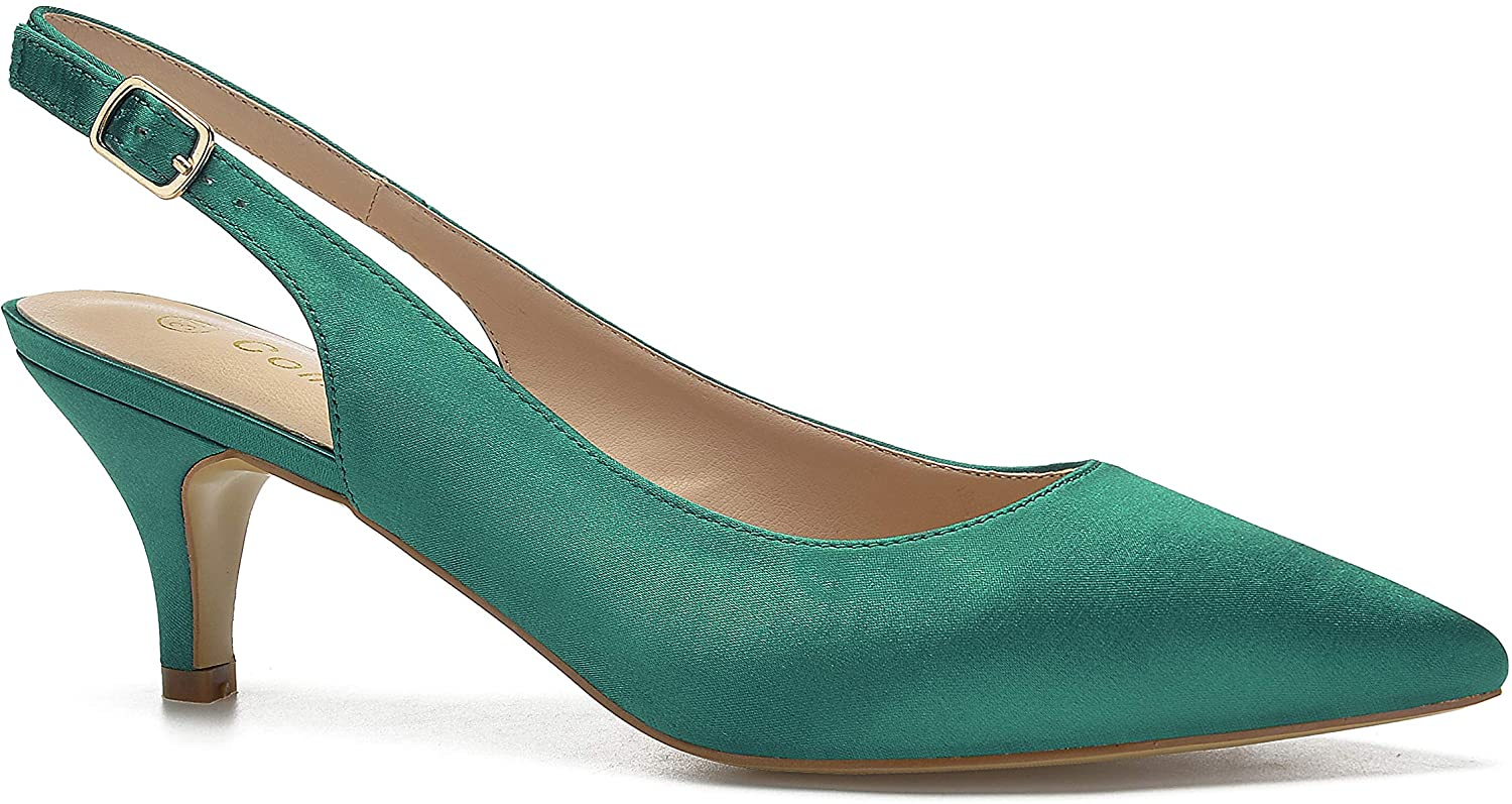 ComeShun Womens Shoes Max 88% OFF Slingback Kitten Pointed Heels Toe Closed specialty shop