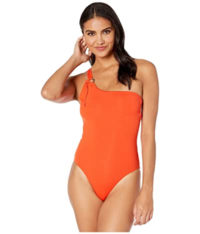 Seafolly Active One Shoulder Maillot One-Piece Swimsuit (Tangelo) Women