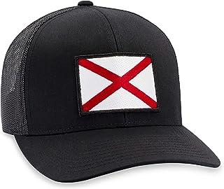 Alabama Hat – Alabama Flag Trucker Hat Baseball Cap Snapback Golf Hat (Black)