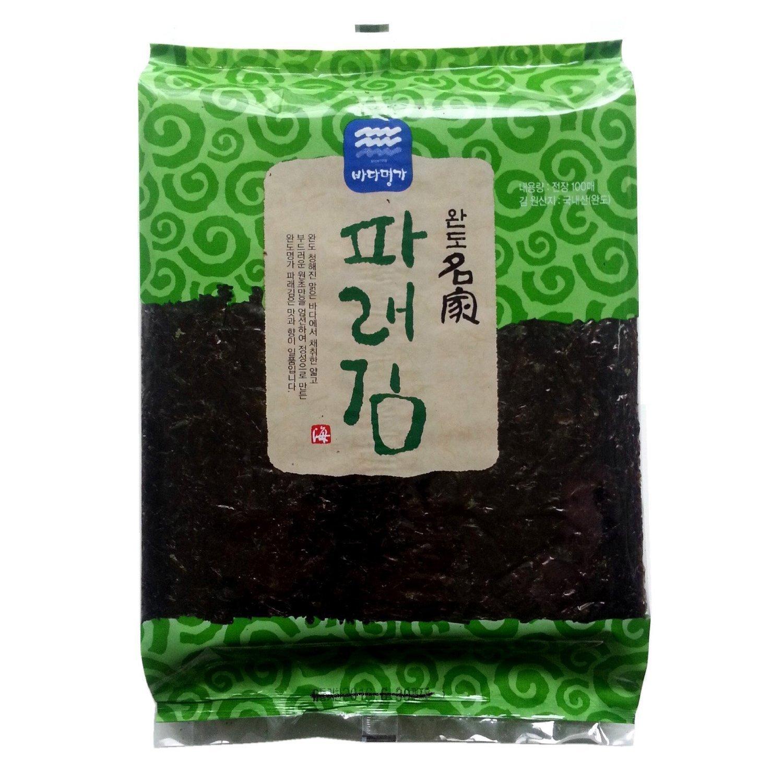 100 Sheets (6.7oz) Dried Kelp Seaweed Nori Raw Unseasoned Snack Sushi