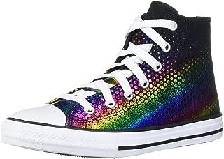 Converse Kids' Chuck Taylor All Star Rainbow Foil Print High Top Sneaker