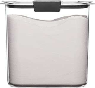Rubbermaid Container, BPA-Free Plastic, Clear Brilliance Pantry Airtight Food Storage, Open Stock, Sugar (12 Cup)