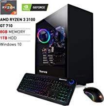 iBUYPOWER Pro Gaming PC Computer Desktop ARCB 108Av2 (AMD Ryzen 3 3100 3.6GHz, NVIDIA GT 710 1GB, 8GB DDR4 RAM, 1TB HDD, WiFi Ready, Windows 10 Home)