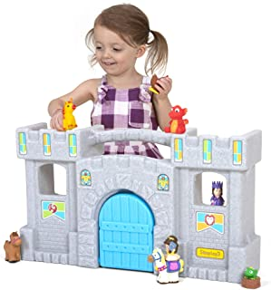 Simplay3 Carry & Go Castle, Portable Durable Toy Castle with 5 Rooms and 3 Balconies for Boys and Girls 18 Months to 6 Years (25.5