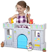"Simplay3 Carry & Go Castle, Portable Durable Toy Castle with 5 Rooms and 3 Balconies for Boys and Girls 18 Months to 6 Years (25.5"" L x 14.9"" H x 6.8"")"