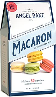 Angel Bake French Macaron Baking Mix with Buttercream Filling. Gluten and Dairy Free. Makes 30 French Macarons.