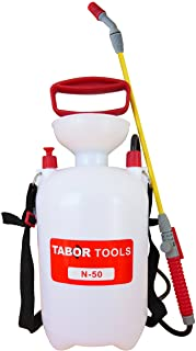 TABOR TOOLS N-50, 1.3 Gallon Lawn and Garden Pump Pressure Sprayer for Herbicides, Fertilizers, Mild Cleaning Solutions and Bleach, Includes Shoulder Strap.