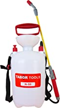 TABOR TOOLS Lawn and Garden Pump Pressure Sprayer for Herbicides, Fertilizers, Mild Cleaning Solutions and Bleach, Includes Shoulder Strap.N-50. (1.3 Gallon)