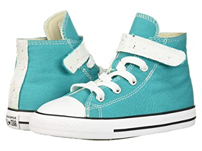 Converse Kids Chuck Taylor All-Star 1V Galaxy Dust Hi (Infant/Toddler) (Turbo Green/Natural Ivory/White) Girls Shoes