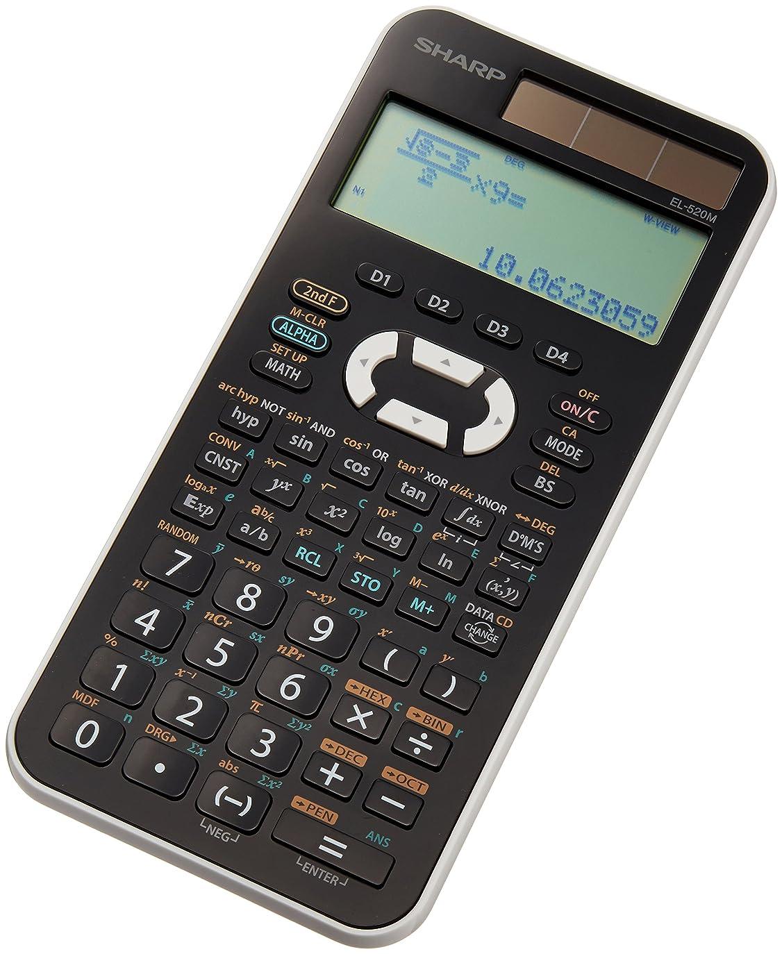 またね売上高天国シャープ 関数電卓 473関数機能 式通り入力表示 スライド式ハードケースタイプ EL-520MX