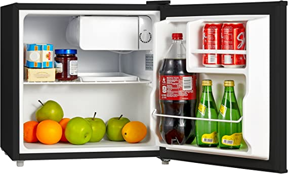Midea WHD-113FSS1 Double Door Mini Fridge with Freezer for Bedroom Office or Dorm with Adjustable Remove Glass Shelves Compact Refrigerator 3.1 cu ft