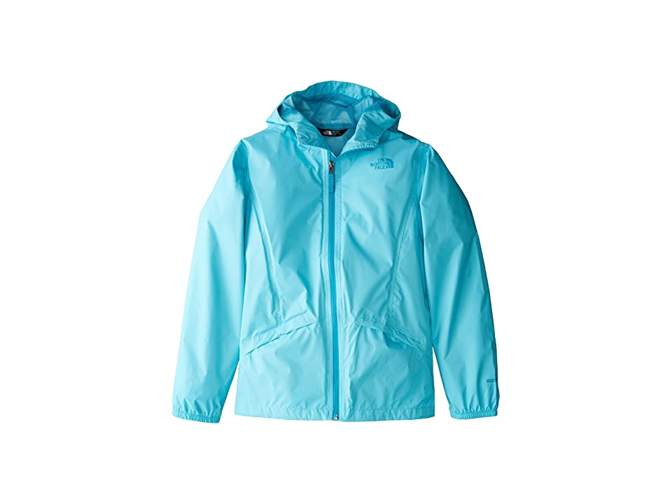 The North Face Kids Zipline Rain Jacket (Little Kids/Big Kids) (Blue Curacao/Algiers Blue/Algiers Blue) Girl