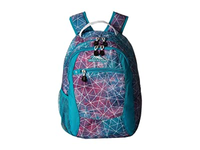 High Sierra Curve Backpack (Sequin Facets/Bluebird/White) Backpack Bags