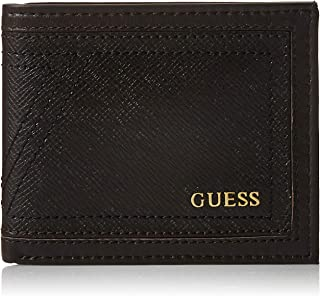 Guess Mens Global Wallet With Coin Holder, Brown, One Size - 31GUE13201