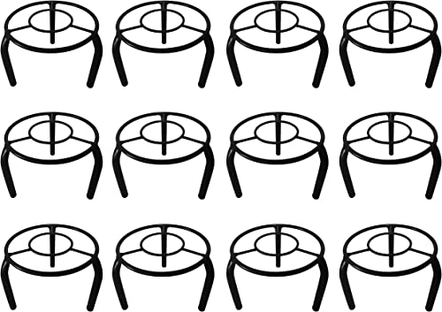 D&V Engineering-Iron Indoor/Outdoor Flower Pot/Plant Stand for Home Garden or Balcony décor (Round Stand (Type-B), Se...