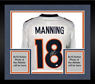 41116377d Framed Peyton Manning Denver Broncos Autographed White Nike Limited Jersey  - Fanatics Authentic Certified