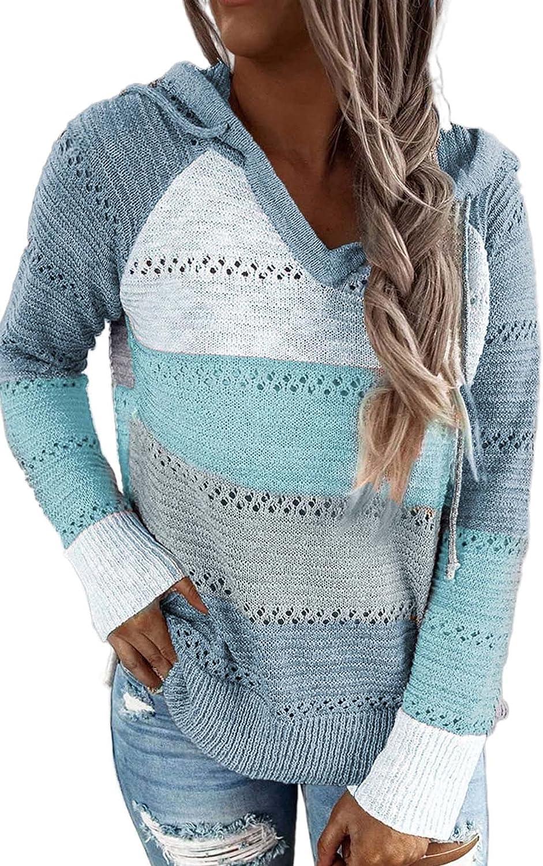 SMENG Women's Lightweight Knit Hoodie Sweater Pullover & Zip up Sweatshirt Tops