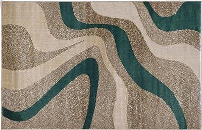 Homemania Tapis Fait à la Machine Water Colors, Impression, Multicolore, en polypropylène, 140 x 200 cm