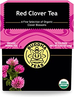 Buddha Teas Red Clover Tea, 0.83 oz, 18 Count (Pack of 6)