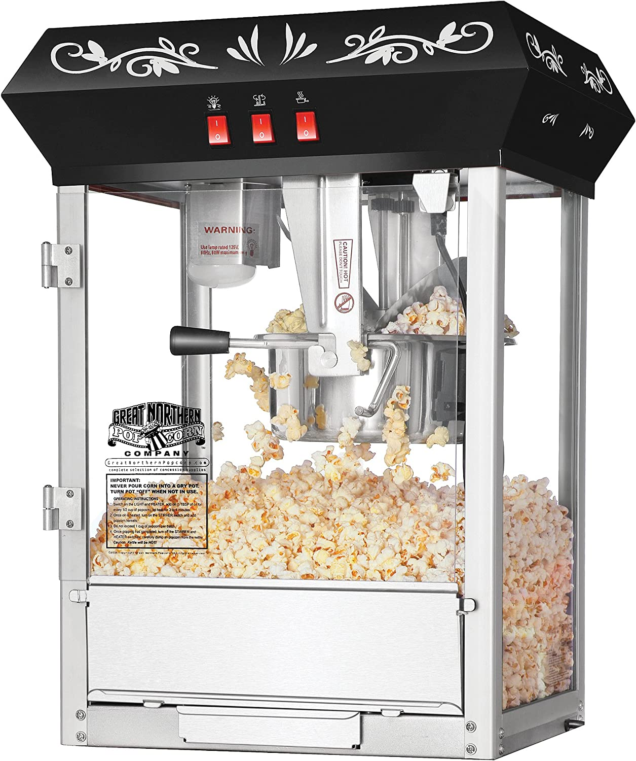 3. Great Northern Vintage Style Popcorn Machine