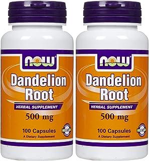 NOW Foods Dandelion Root 500 mg Caps, 2 pk