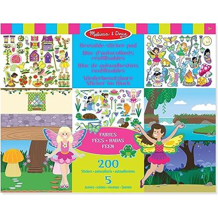 Melissa & Doug- Fairy Cojín de Pegatinas Reutilizables, 3+ Años, Multicolor (18603) , color/modelo surtido
