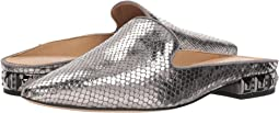Pewter Diamond Snake Print Leather