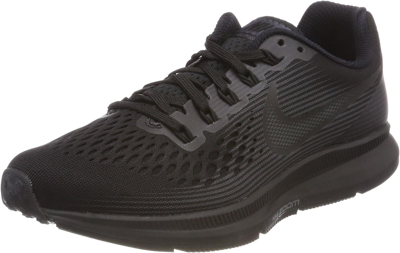 Nike Women's Wmns Air Zoom Pegasus 34, BLACK DARK GREY-ANTHRACITE