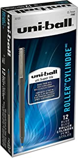 Uni-Ball 60103 Roller Pens, Fine Point (0.7mm), Blue, 12 Count