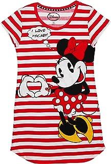 Juniors Mickey & Minnie Mouse Stripe Dorm Night Shirt