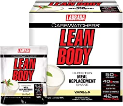 Labrada Carb Watcher Lean Body Vanilla Powder Sachets Pack of 42 Estimated Price : £ 77,61