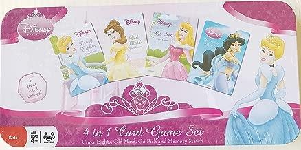 Disney Princess 4 in 1 Card Game Set