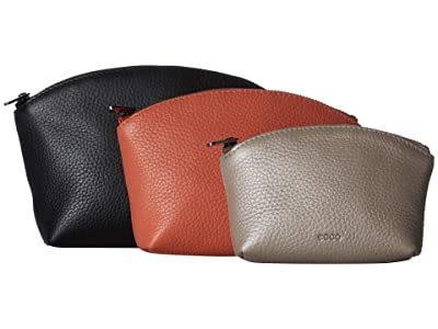 ECCO SP 3 Pouch Set (Black/Apricot/Grey Rose Metallic) Travel Pouch