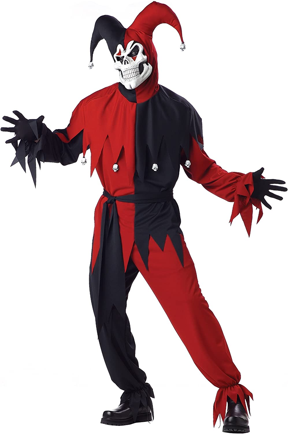 Fixed price for sale Adult wholesale Evil Jester Costume