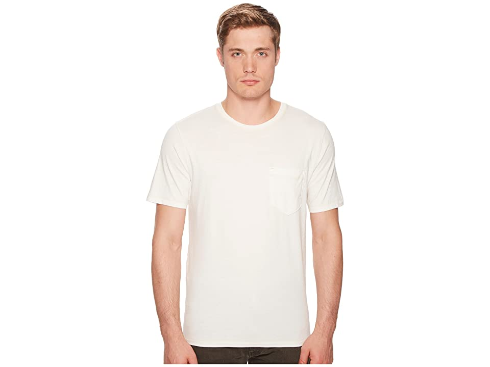 Image of Billy Reid Washed Tee (White) Men's T Shirt