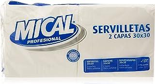 Mical Servilletas, Color Blanco, 2 Capas, 30 x 30 cm - Pack