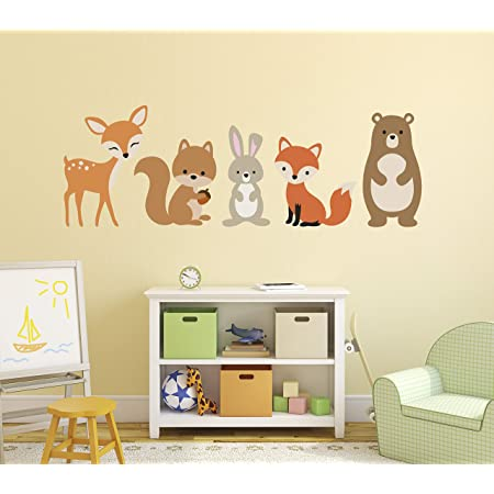 Wall Stickers Fox Cool Firefox Animal Art Decals Vinyl Decor Room Home Cute Kids