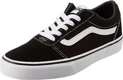 Vans Ward Low-Top Trainers Sneakers, Black ((Suede/Canvas) Black/White Iju)
