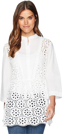 a4876373c2 Catherine catherine malandrino bell sleeve geometric cut out sweater ...