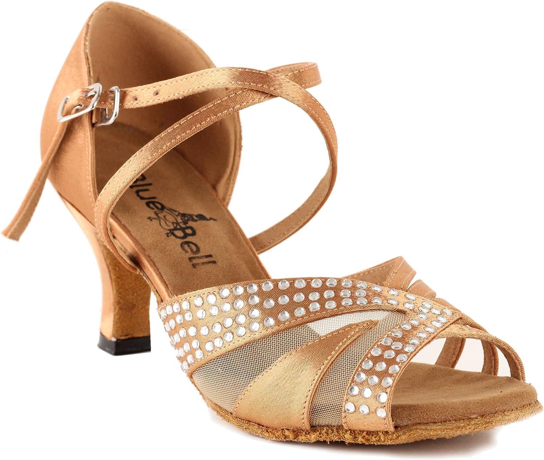 BlueBell Shoes Handmade Women's Ballroom Wedding Competition Dance Shoes The Jasmine 2.5