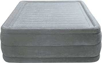 Intex 64418 Comfort Plush High Raised Queen Size Airbed with Electric Pump - Grey