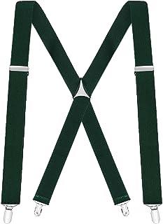 "Buyless Fashion Men Trucker Suspenders 48/"" Elastic Adjustable 1 1//4/"" X Back"