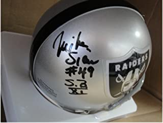 Mike Siani Hand Signed Auto Mini Helmet Oakland Raiders #49 SB XI w/COA